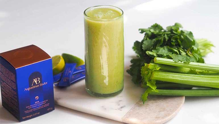 The SKIN : recette de smoothie vert détoxifiant pour la peau